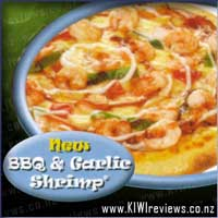 BBQ and Garlic Shrimp Pizza