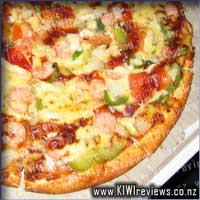 Garlic Shrimp pizza