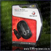 Wireless Rechargeable Laser Stow-N-Go Laptop Mouse - AMW28AU