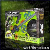 SNAKE EYES Sword & Mask with Ninja Stars