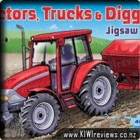 Tractors, Trucks And Diggers Jigsaw Book