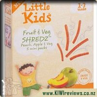 Little Kids Fruit & Veg SHREDZ - Peach, Apple & Veg