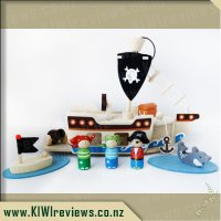 Mocka Wooden Toy Set - Pirate Ship