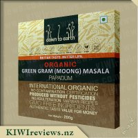 Down to Earth Organic Papadum - Green Gram (Moong) Masala